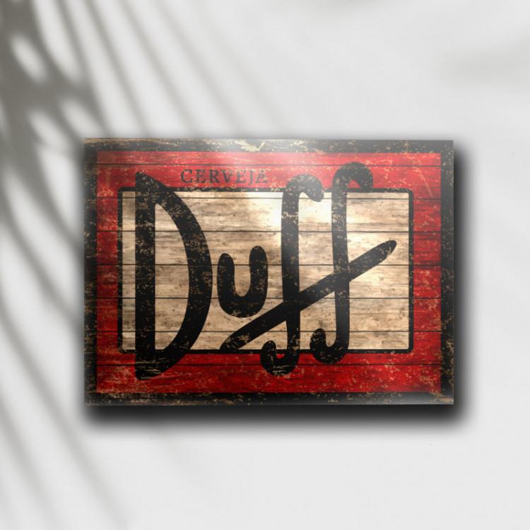 Placa Decorativa Cerveja Duff - MDF 6 mm - Tam. 28 x 20 cm