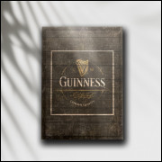 Placa Decorativa Cerveja Guinness Black - MDF 6 mm - Tam. 28 x 20 cm