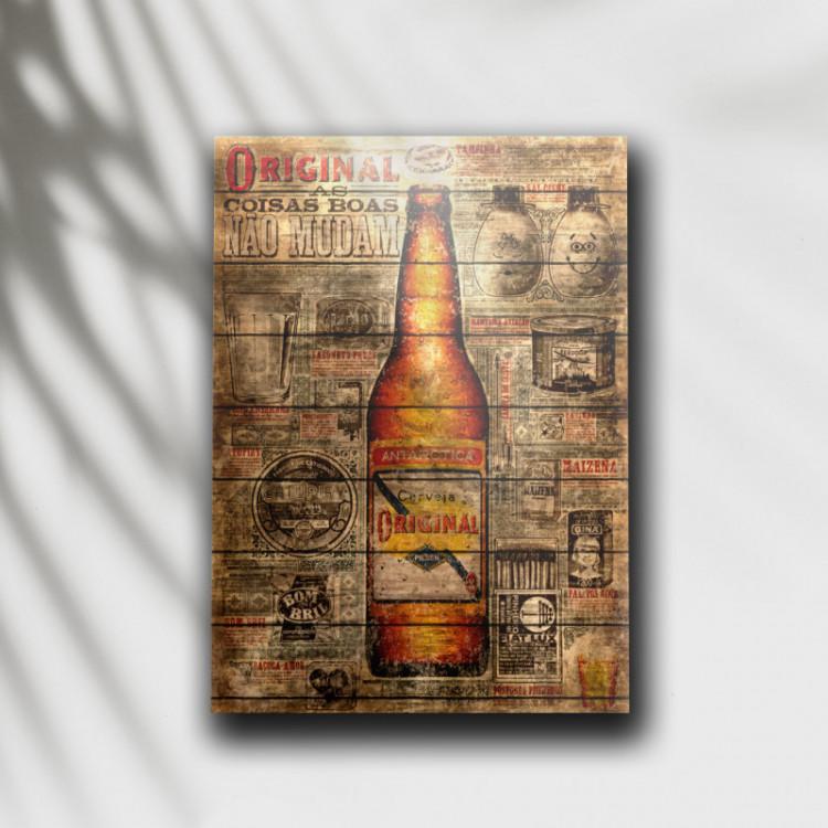 Placa Decorativa Cerveja Original 2 - MDF 6 mm - Tam. 28 x 20 cm