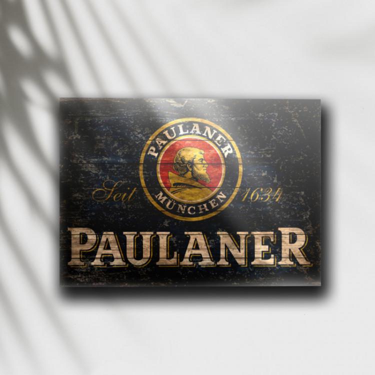 Placa Decorativa Cerveja Paulaner - MDF 6 mm - Tam. 28 x 20 cm