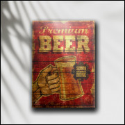 Placa Decorativa Premium Beer - MDF 6 mm - Tam. 28 x 20 cm