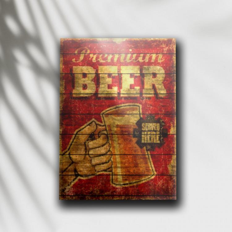 Placa Decorativa Premium Beer - MDF 6 mm - Tam. 28 x 20 cm