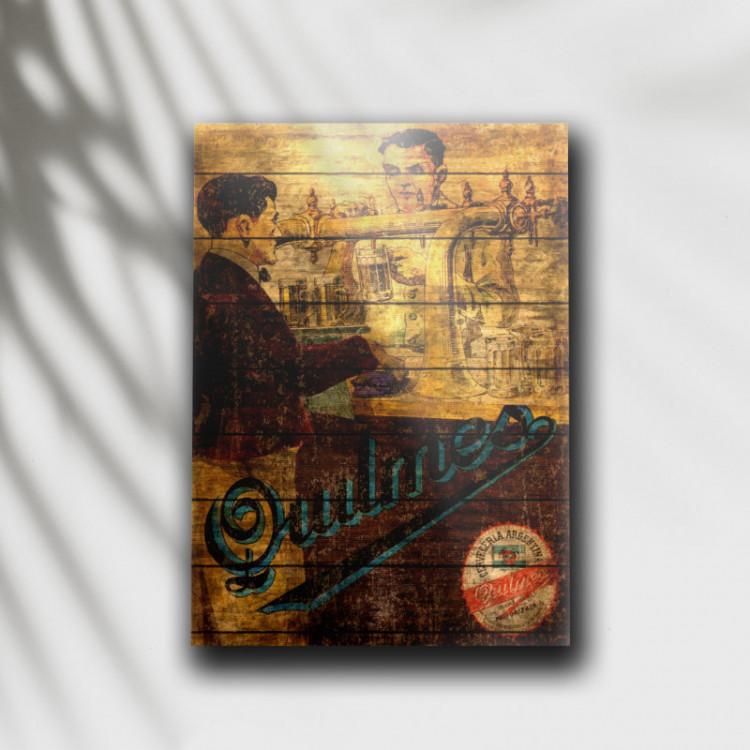 Placa Decorativa Cerveja Quilmes - MDF 6 mm - Tam. 28 x 20 cm