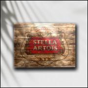 Placa Decorativa Cerveja Stella Artois - MDF 6 mm - Tam. 28 x 20 cm