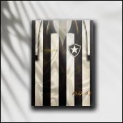 Placa Decorativa Botafogo - Camisa Mané Garrincha - MDF 6 mm - Tam. 28 x 20 cm