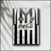 Placa Decorativa Botafogo - Camisa 1989 Fim do Jejum - MDF 6 mm - Tam. 28 x 20 cm
