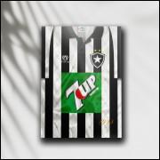 Placa Decorativa Botafogo - Camisa 1995 Campeão Brasileiro - MDF 6 mm - Tam. 28 x 20 cm