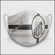 Máscara de Proteção Respiratória do Santos - Modelo Bandeira - Tecido 100% Poliester