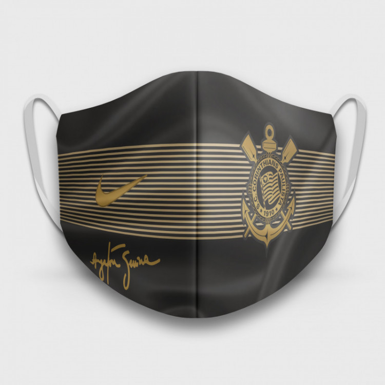 Máscara de Proteção Respiratória do Corinthians - Modelo Camisa Senna - Tecido 100% Poliester