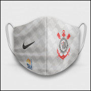 Máscara de Proteção Respiratória do Corinthians - Modelo Camisa Mundial 2012 - Tecido 100% Poliester
