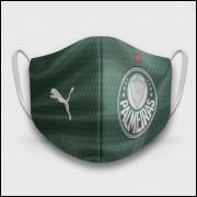 Máscara de Proteção Respiratória do Palmeiras - Modelo Camisa Verde - Tecido 100% Poliester