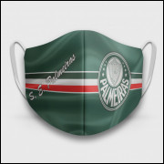 Máscara de Proteção Respiratória do Palmeiras - Modelo Itália - Tecido 100% Poliester