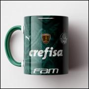 Caneca Palmeiras - Camisa Verde - Bi-Campeão da Libertadores 2020 - Porcelana 325ml