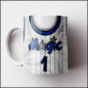 Caneca NBA Orlando Magic - Camisa Branca Retrô - Porcelana 325ml