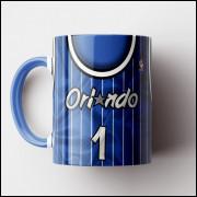 Caneca NBA Orlando Magic - Camisa Azul Retrô - Porcelana 325ml